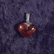 Amber Jewelry: Amber Heart with Silver Leaf - www.avalonstreasury.com [112 x 112 px]