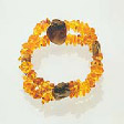 Amber Jewelry: Bracelet with four rustic amber gems - www.avalonstreasury.com [112 x 112 px]