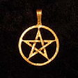 Small Pentagram (In Gold) - www.avalonstreasury.com